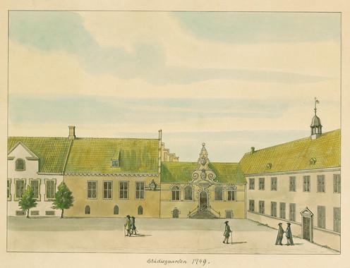 Universitetsgården, ca. 1749